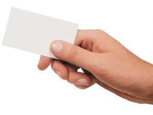 подаване на визитка